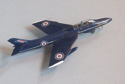 Hunter T,7 92 Sqn Blue Diamonds